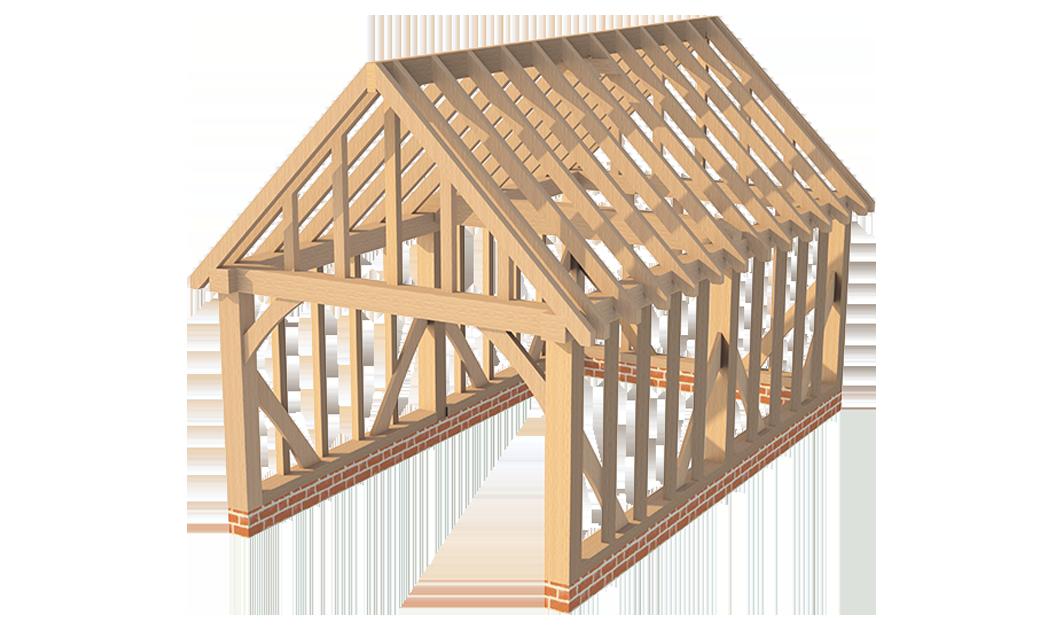 Greenacre oak oak timber frames for Garage gable